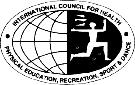 logo for International Council for Health, Physical Education, Recreation, Sport and Dance