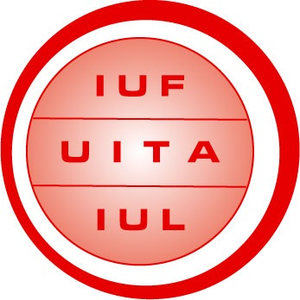 logo for International Union of Food, Agricultural, Hotel, Restaurant, Catering, Tobacco and Allied Workers Associations