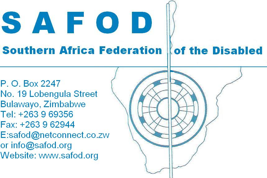 logo for Southern Africa Federation of the Disabled