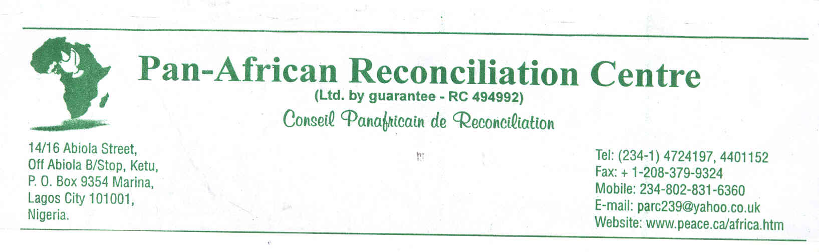 logo for Pan-African Reconciliation Council