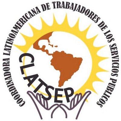 logo for Coordinadora Latinoamericana de Trabajadores de los Servicios Públicos