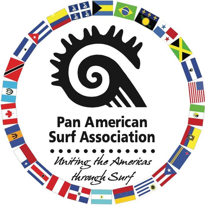 logo for Pan American Surfing Association