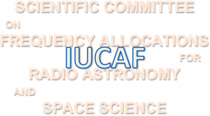 logo for Scientific Committee on Frequency Allocations for Radio Astronomy and Space Science