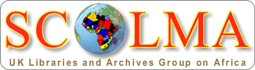 logo for SCOLMA - UK Libraries and Archives Group on Africa