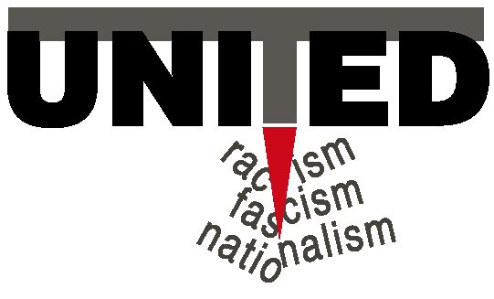 logo for UNITED for Intercultural Action - European Network Against Nationalism, Racism, Fascism and in Support of Migrants and Refugees
