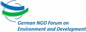 logo for German NGO Forum on Environment and Development