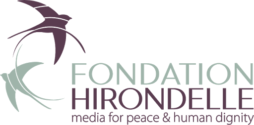 logo for Fondation Hirondelle - Media for Peace and Human Dignity