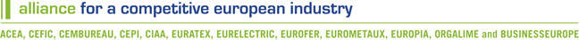 logo for Alliance for a Competitive European Industry