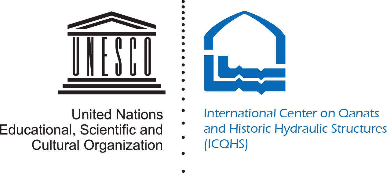 logo for International Center on Qanats and Historic Hydraulic Structures, Yazd