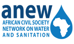 logo for African Civil Society Network on Water and Sanitation