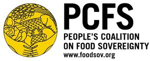 logo for People's Coalition on Food Sovereignty