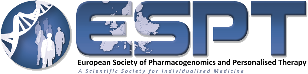 logo for European Society of Pharmacogenomics and Personalised Therapy