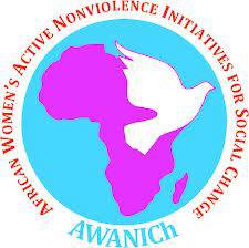 logo for African Women's Active Nonviolence Initiatives for Social Change