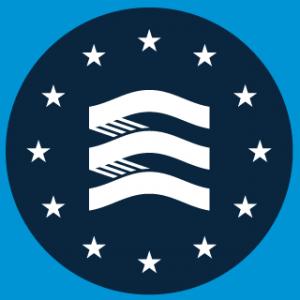 logo for Frontex, the European Border and Coast Guard Agency
