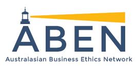 logo for Australasian Business Ethics Network
