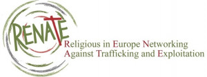 logo for Religious in Europe Networking Against Trafficking and Exploitation