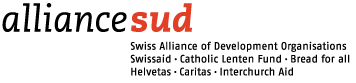 logo for Alliance Sud, Swiss Alliance of Development Organisations Swissaid - Catholic Lenten Fund - Bread for All - Helvetas - Caritas - Interchurch Aid